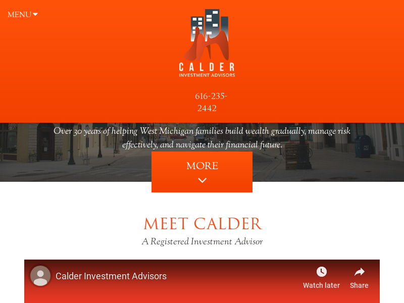 Financial Advisors in Michigan - Calder Investment Advisors