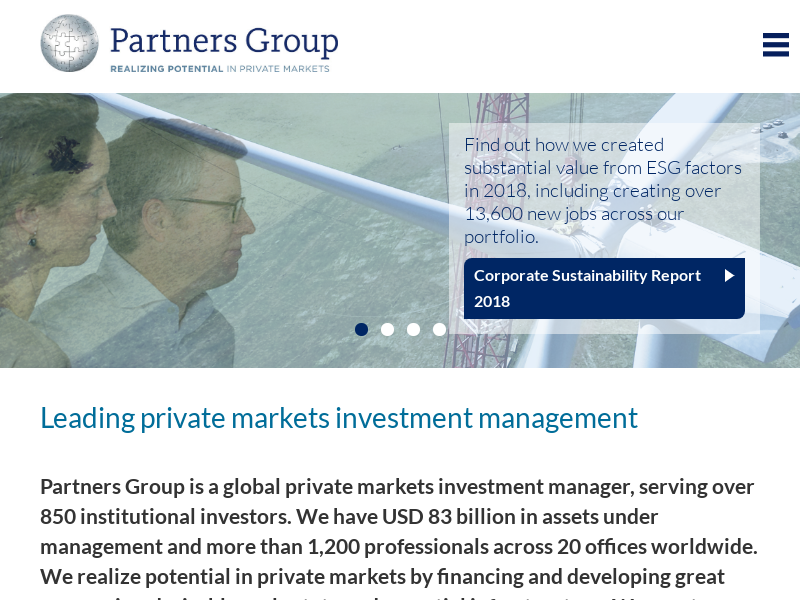 Leading private markets investment management