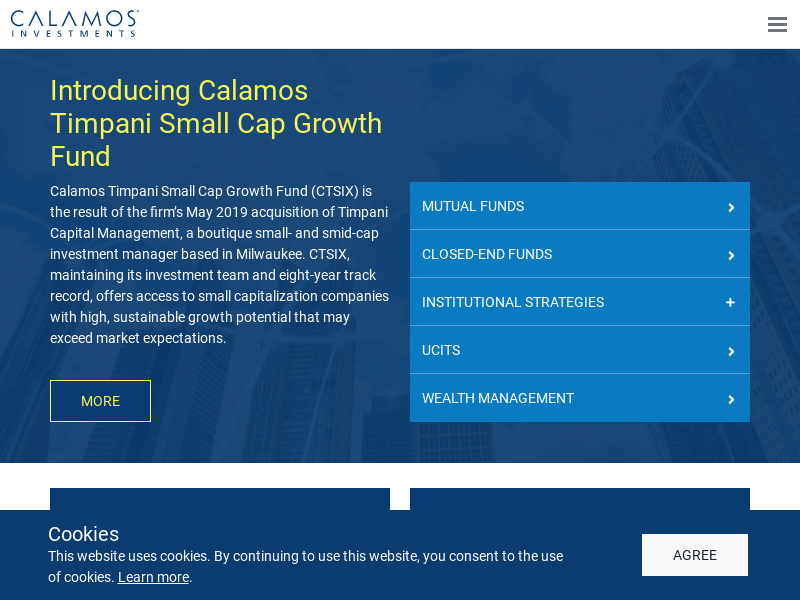 Calamos Timpani Small Cap Growth Fund (CTSIX)   Calamos Investments
