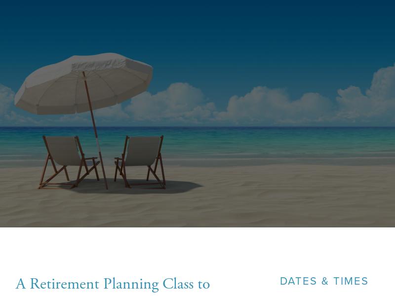 Retirement Class | Retirement Planning Classes & Workshops