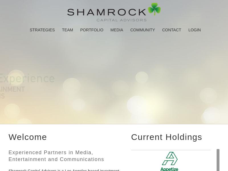 Home - Shamrock Capital AdvisorsShamrock Capital Advisors | Los Angeles based Private Equity Firm