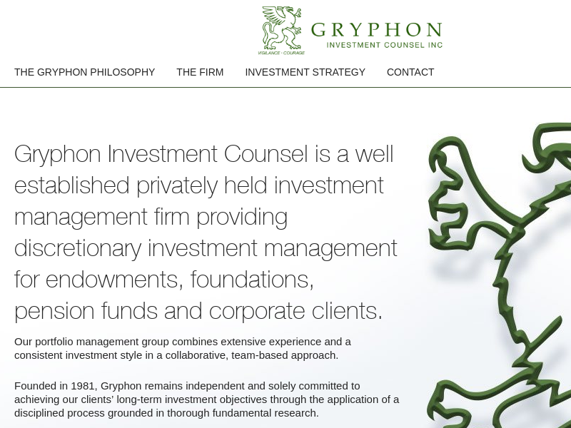 Gryphon Investment Counsel Inc