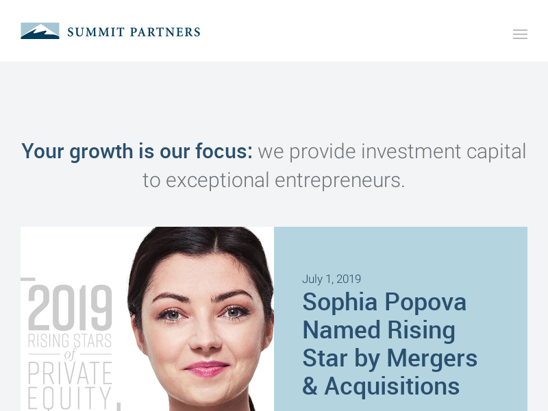 Summit Partners | Growth Capital for Exceptional Companies