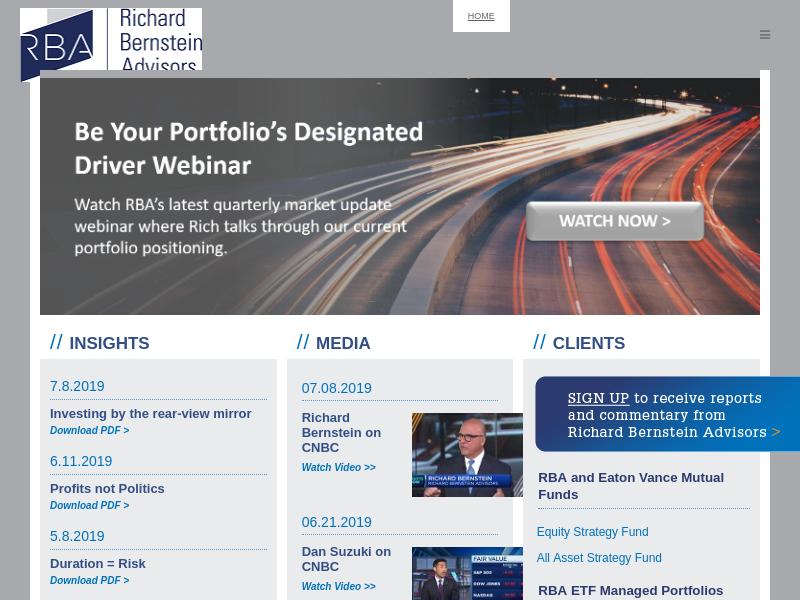 Richard Bernstein Advisors - Main - Richard Bernstein Advisors