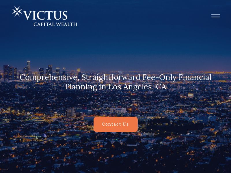 Fee-Only Financial Planning in Los Angeles, CA — Victus Capital Wealth