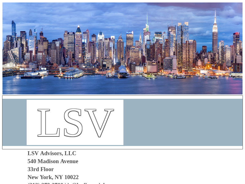 LSV Advisors, LLC