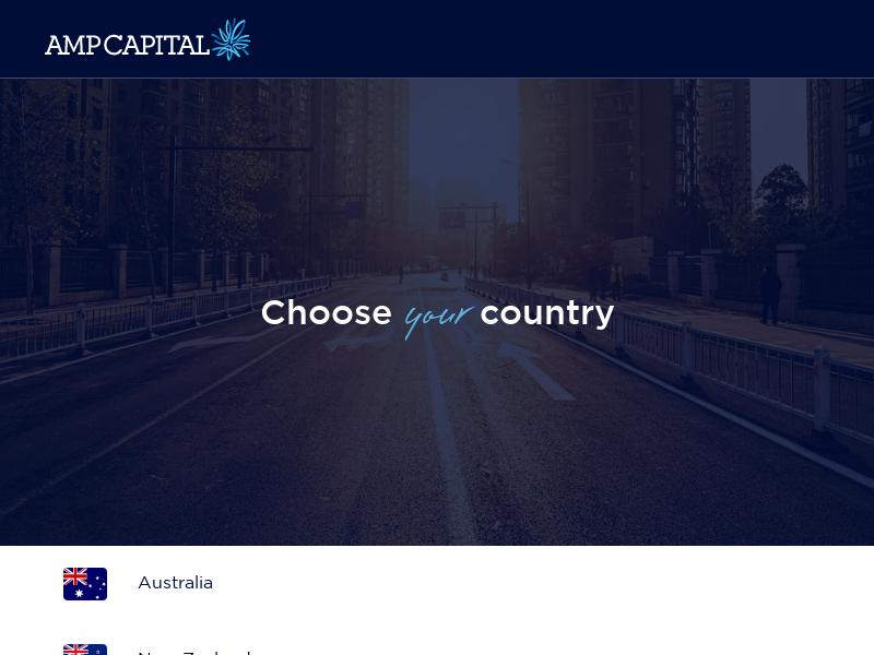 Select region   AMP Capital