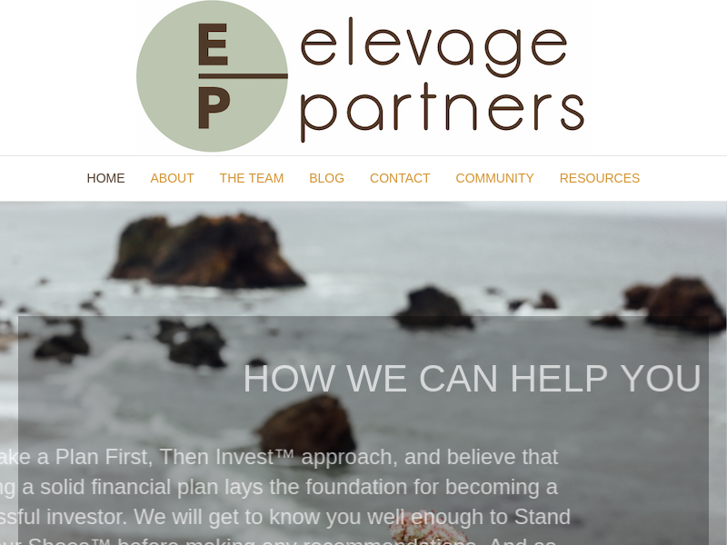 Elevage Partners – Financial planning and wealth management services.