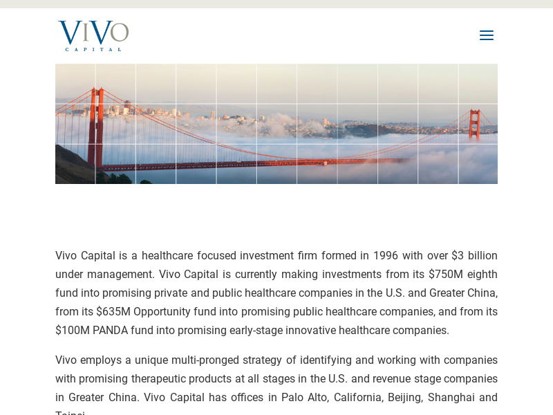 Vivo Capital | healthcare focused investment firm