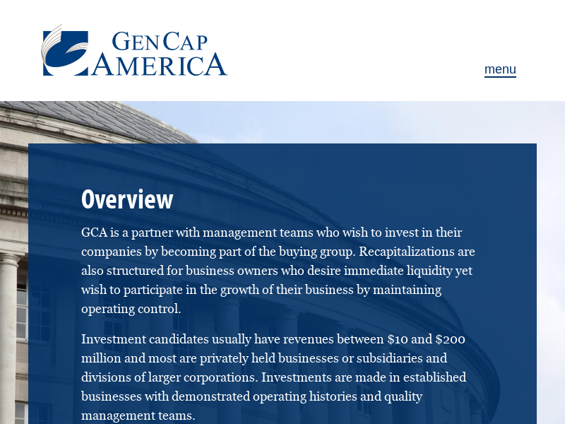 Gen Cap America – Private Equity