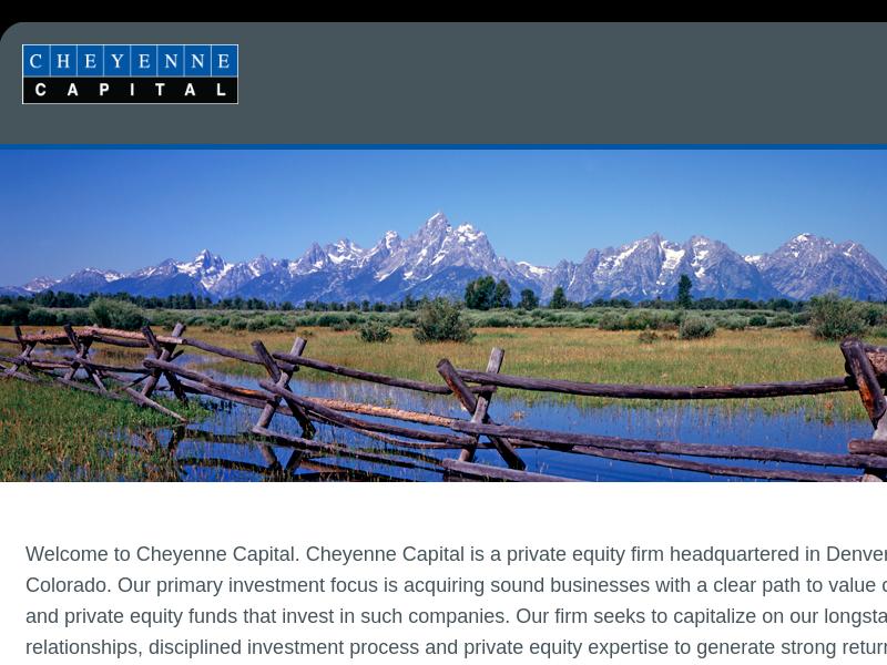 Cheyenne Capital, LP - Welcome to Cheyenne Capital