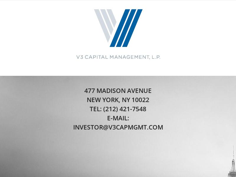 V3 Capital Management – V3 Capital Management
