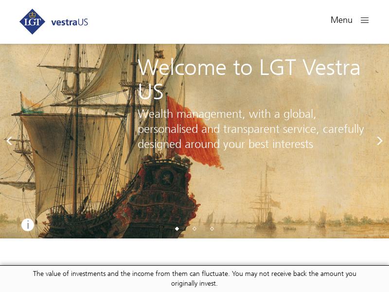 Welcome to  LGT Vestra US