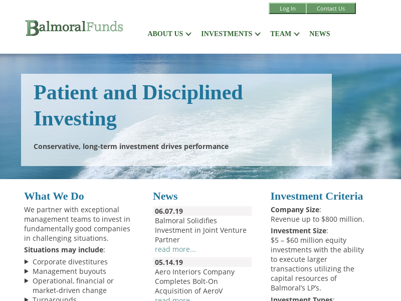 Homepage - Balmoral Funds