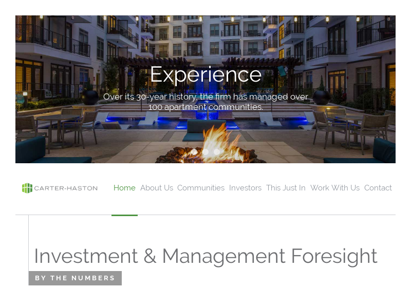Private Fund & Property Management - Carter Haston