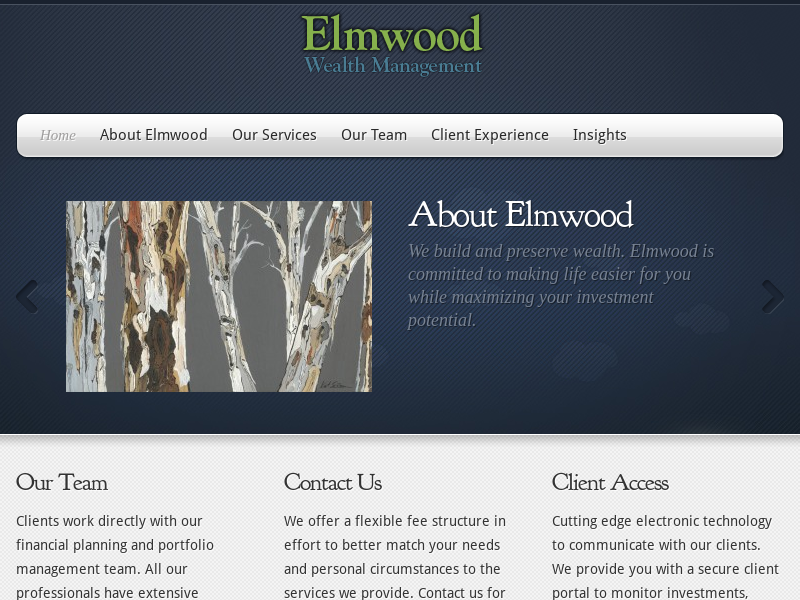 Elmwood Wealth: comprehensive wealth management services in the San Francisco Bay Area