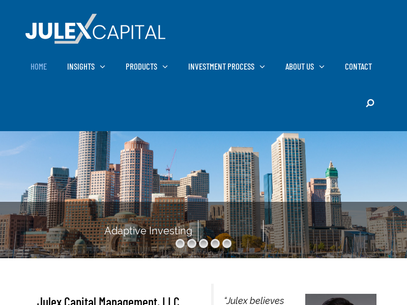 Julex Capital Management   Tactical and Risk Managed Solutions