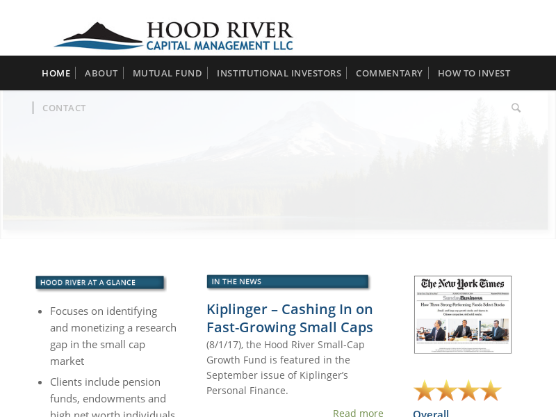 Home - Hood River Capital Management