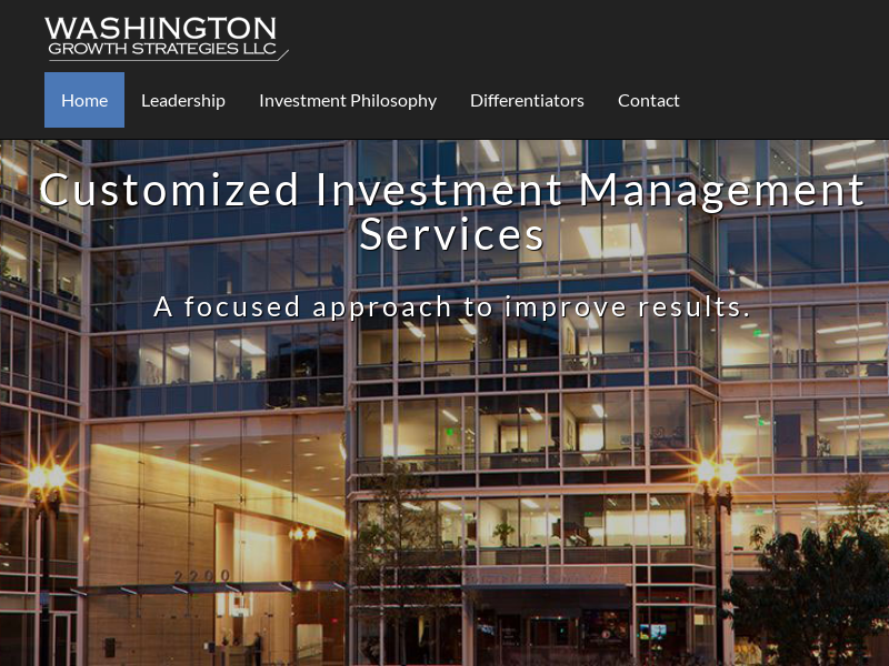 Investment Management Services - Washington Growth Strategies LLC