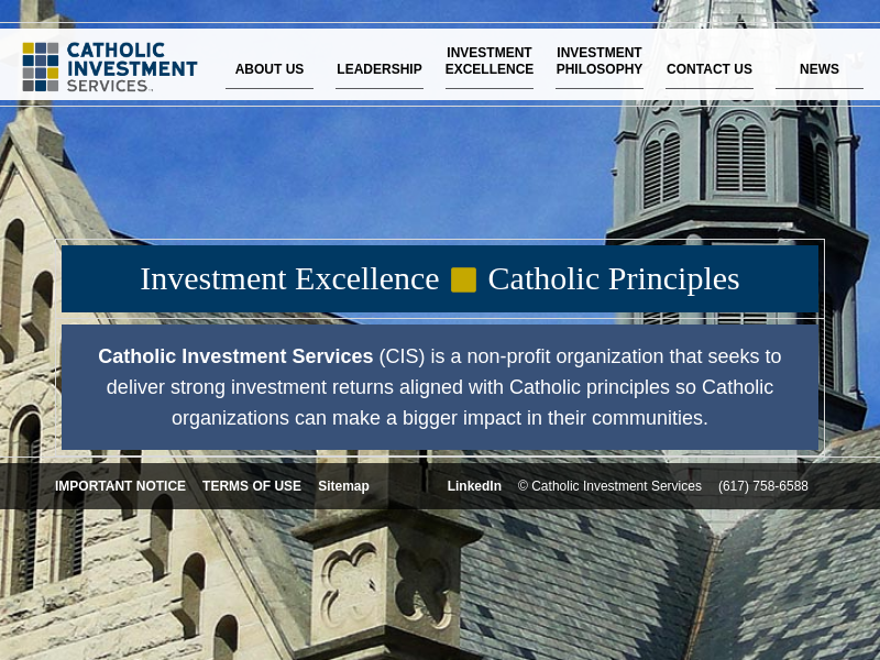 Catholic Investment Services | Investment Excellence, Catholic Principles