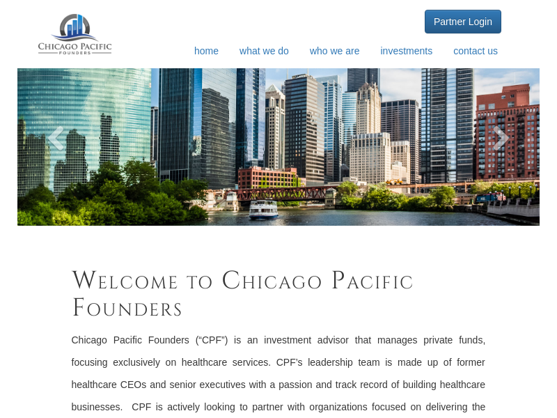 Strategic Healthcare Investment Fund | Chicago Pacific Founders