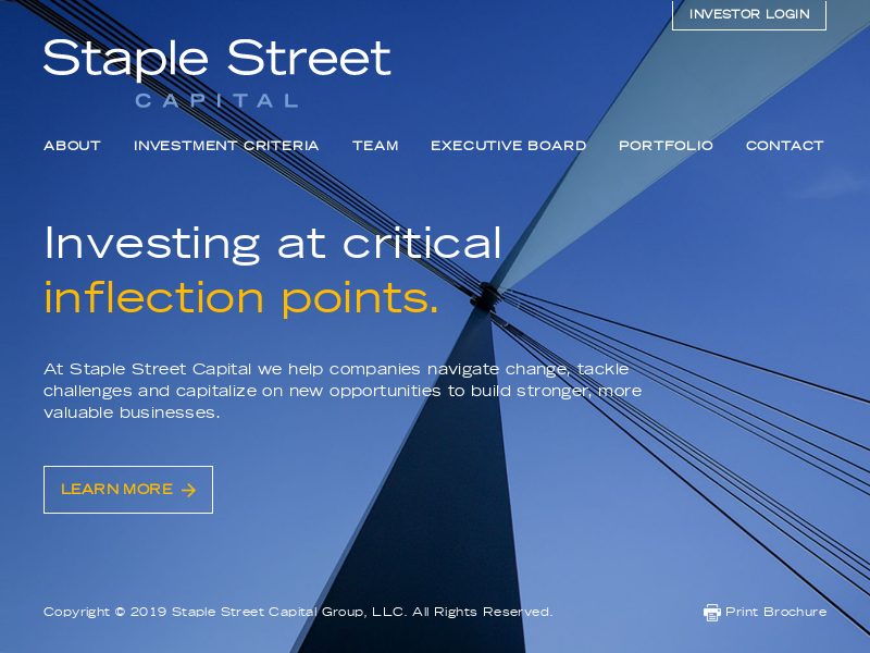 Staple Street - Middle Market Private Equity Firm / Investment Management - Index