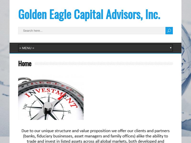 Golden Eagle Capital Advisors, Inc.