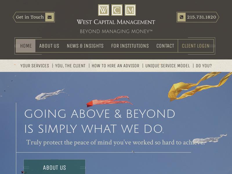 West Capital Management   Beyond Managing Money™