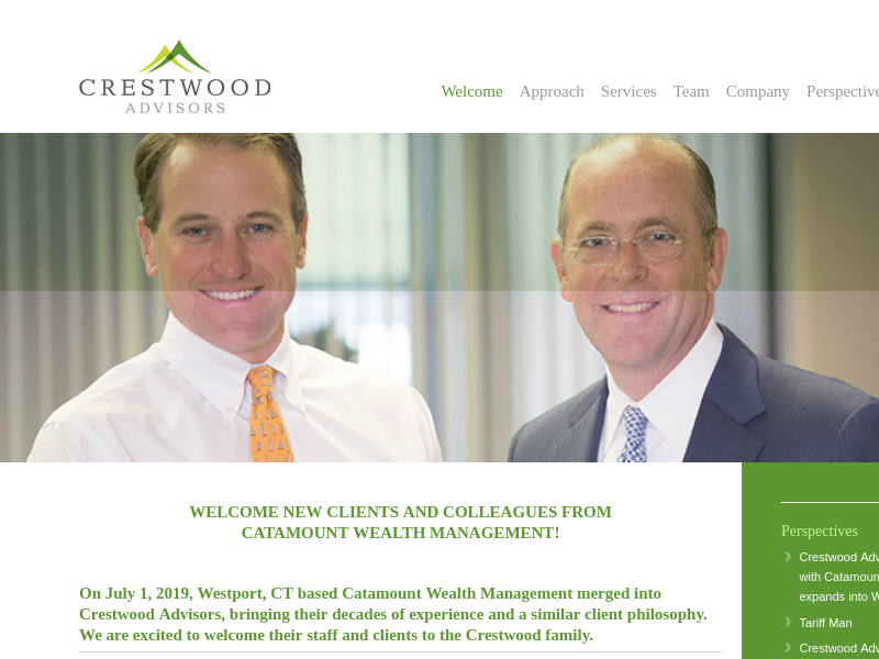 Crestwood Advisors | An independent SEC registered investment advisor