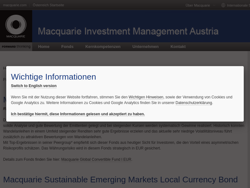 Startseite - Macquarie Investment Management Austria