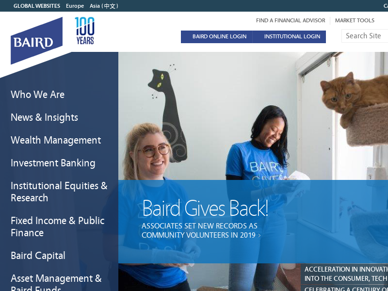 Baird   Wealth Management, Capital Markets, Private Equity, Investment Banking Offered by Baird