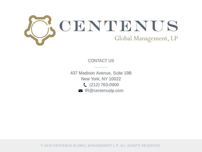 Centenus Global Management LP