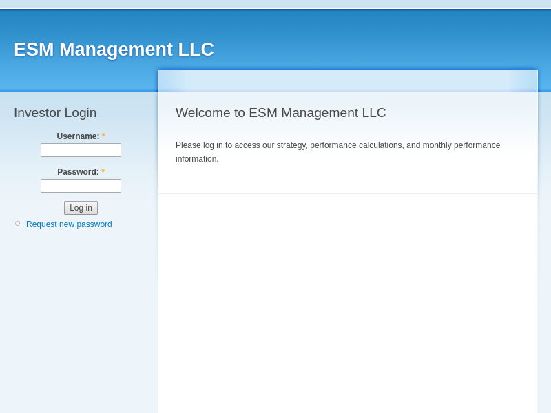 Welcome to ESM Management LLC | ESM Management LLC