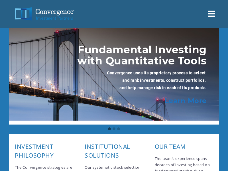 home - Convergence Investment Partners