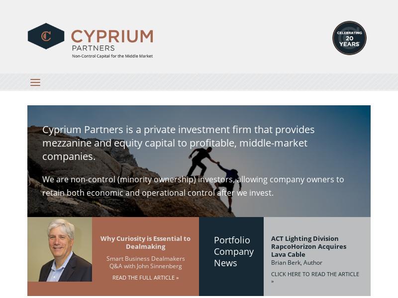 Cyprium | Mezzanine Debt, Preferred Stock & Minority Equity Capital