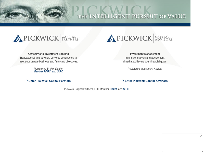 Welcome to Pickwick Capital