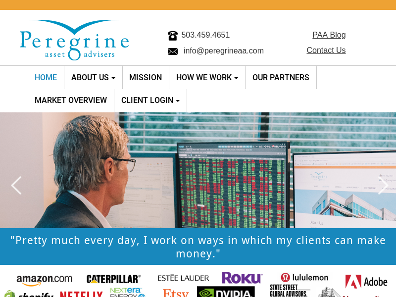 Peregrine Asset Advisers: Registered Investment Advisors, Portland Oregon
