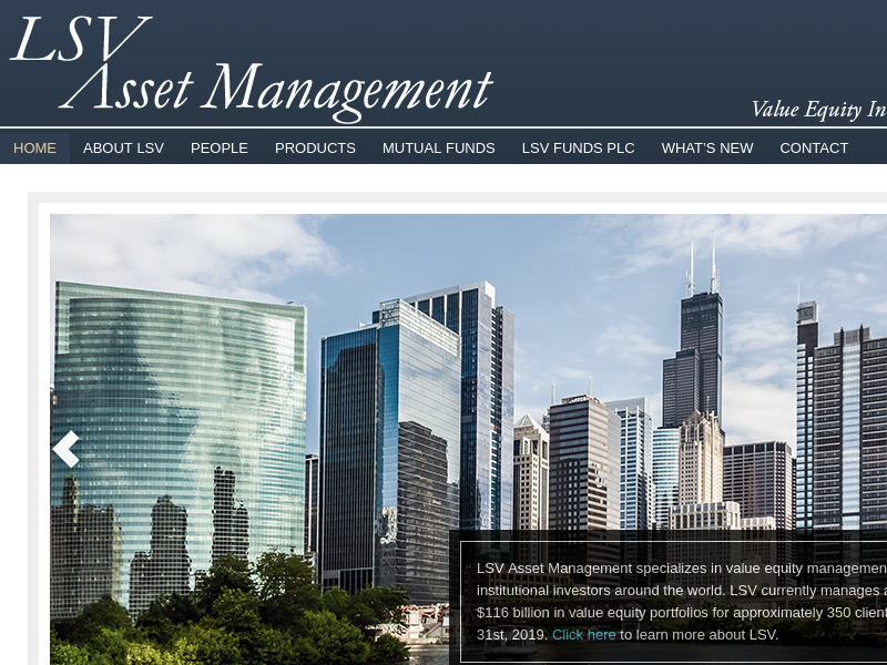 LSV Asset Management - Value Equity Investment Specialists