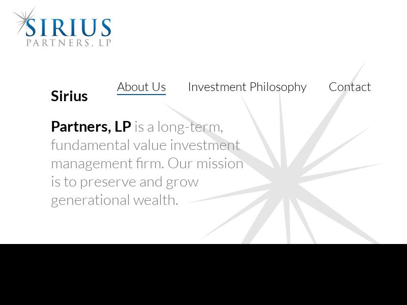 Sirius Partners, LP