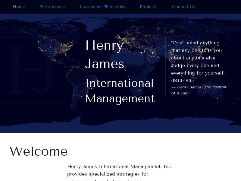 Henry James International Management