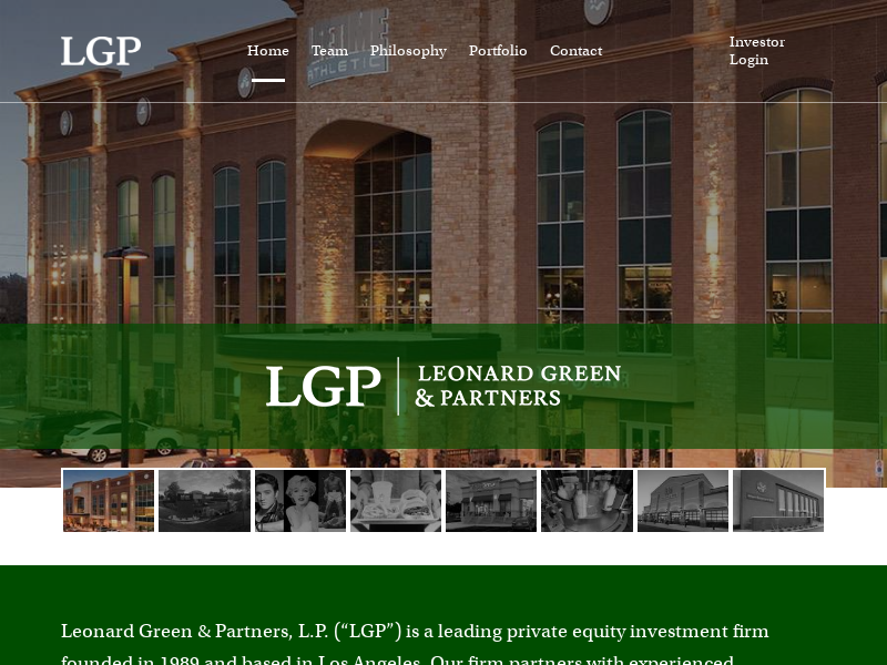 Leonard Green and Partners | Leading private equity investment firm based in Los Angeles