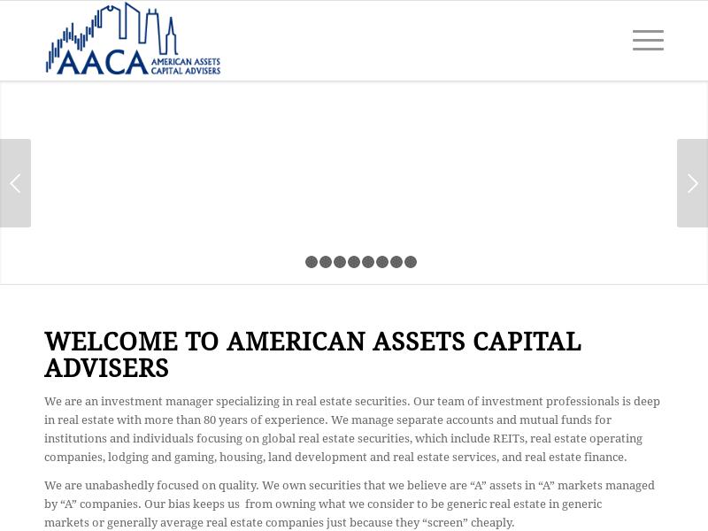 American Assets Capital Advisers