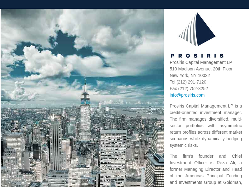 Home page -   Prosiris Capital Management