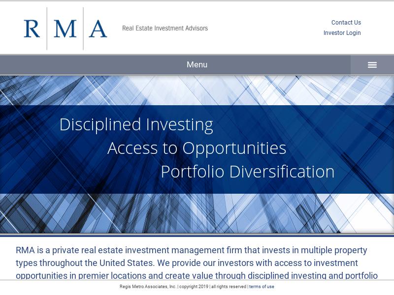 RMA Real Estate Investment Advisors: Home