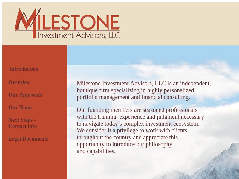 Milestone investment advisors madison wi savings investment identity definitions