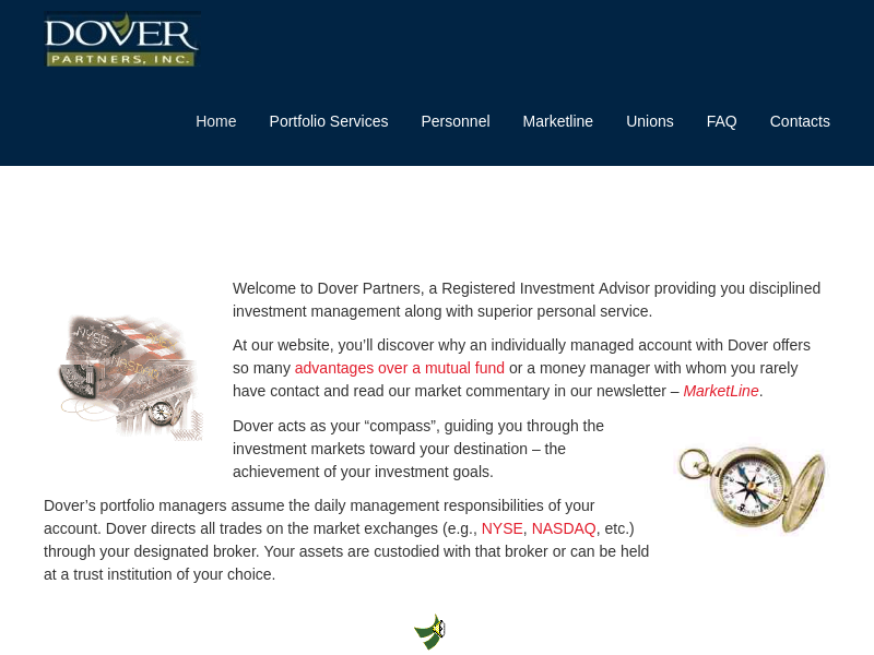 Dover Partners   Dover Partners, a Registered Investment Advisor providing you disciplined investment management along with superior personal service.