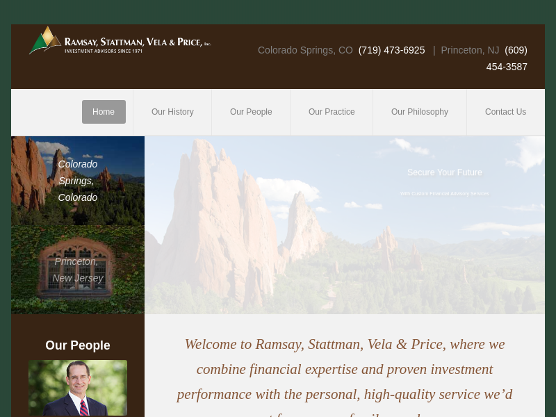 Highly customized financial advisory service for individuals and institutions - Ramsay, Stattman, Vela & Price