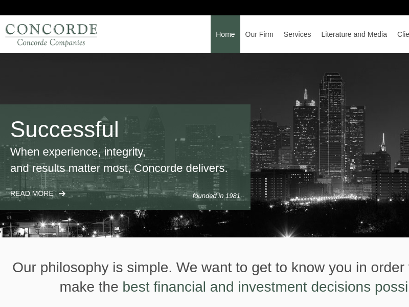 Home | Concorde Investment Management