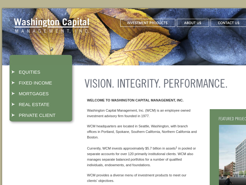 Washington Capital Management