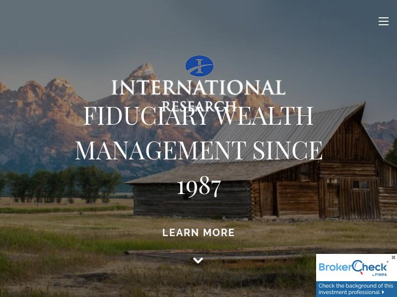Home | International Research & Asset Management, Inc.